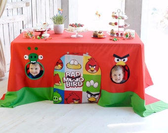 Angry Birds party decoration/ Angry Birds birthday/ Boys fort/ Tablecloth playhouse/ Boy birthday party/ Boys playhouse/ Table tent
