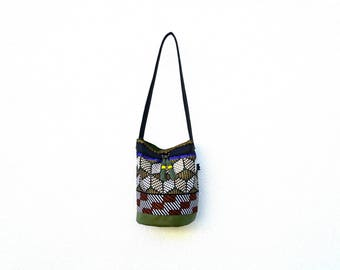 African khaki purse bag