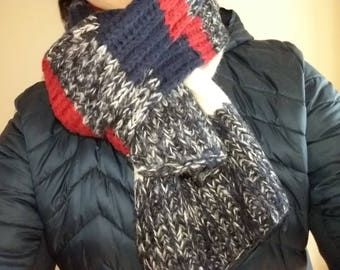 Long scarf, wool, hand made