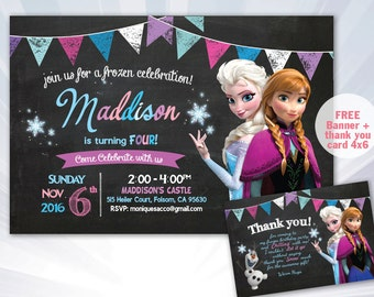 Elsa invitation, Frozen Invitation, Elsa party invitation, Elsa invite, Frozen Birthday Party, Elsa party invite, Frozen party