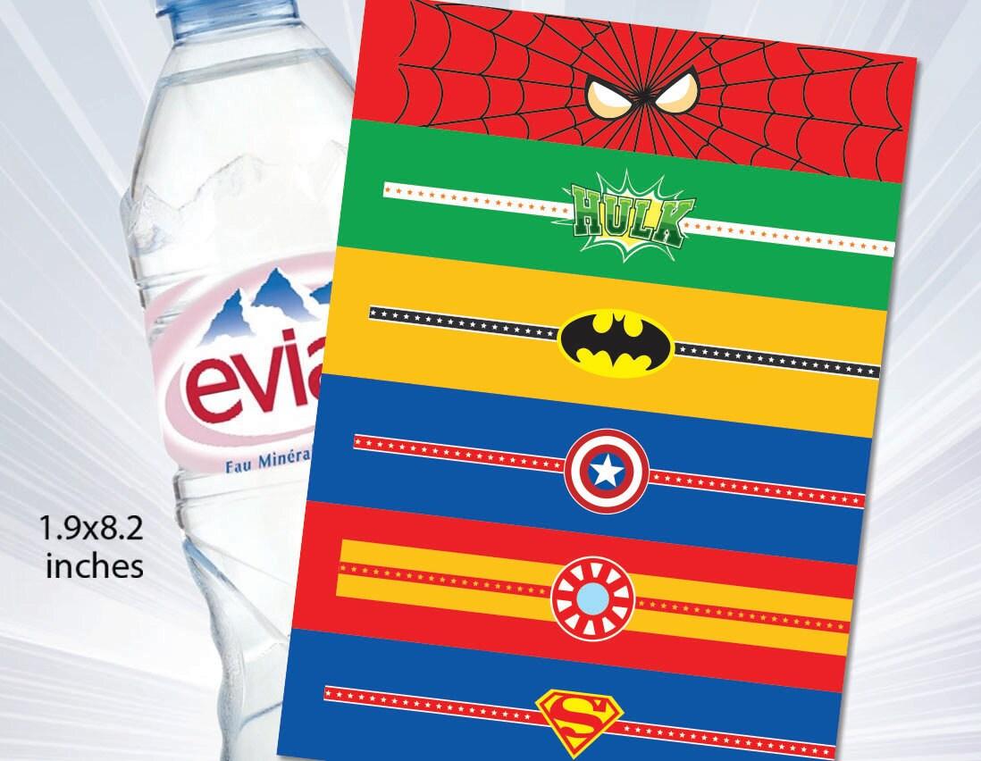 superhero water bottle labels available baby onesie water