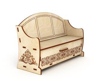 Sofa dollhouse, Miniature Sofa, Miniature Couch, Dollhouse Couch, scale 1/6, scale 1/12, Sofa for Barbie, Wooden Barbie Sofa