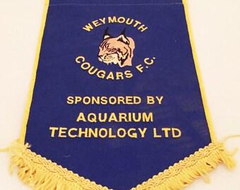 Weymouth Cougars Football Pendant c.1990s