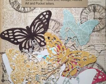 Butterfly Die Cuts//Collage Butterflies//Art Journal Butterflies - Pack of 20