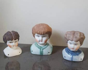 FREE SHIPPING! Vintage ceramic doll heads.