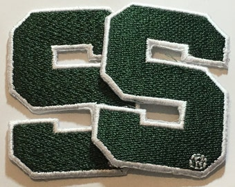 2 Michigan State Spartans embroidered Iron on patches