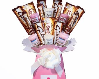 Yankee Collection Candle & Galaxy Chocolate Bouquet