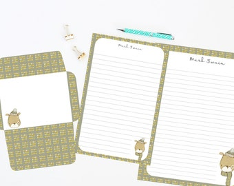 Dog Personalized Editable Stationery Set, Printable Stationery, Stationery Set