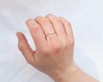9ct Gold ring - cz bezel - skinny ring - gold cz ring - stacking ring - cz ring - eternity ring - cubic zirconia ring - gold ring - I32358