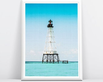 Lighthouse Photography, Coastal, Nautical, Beach Home Decor, Large Printable Poster, Digital Download, Colour Photo, Wall Art Print