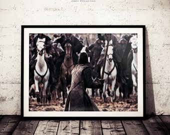 Jon Snow Art Print, Game of Thrones Poster, Battle of the Bastard Print, TV Show Art, Jon Snow Poster, Jon Snow Wall Decor, HBO Epic Art