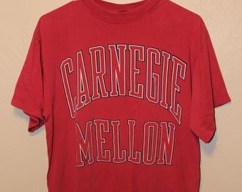 Vintage carnegie mellon shirt // Carnegie Mellon t-shirt // Carnegie mellon tshirt // vintage Carnegie Mellon // 90s Carnegie Mellon //
