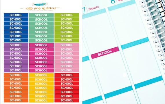 School Headers || Functional Stickers, School Header Stickers, Stickers For Planner, Planner Stickers, School Stickers, Header Stickers