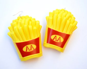 French fries earrings large