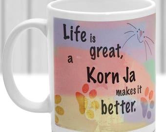 Korn Ja cat mug, Korn Ja cat gift, ideal present for cat lover