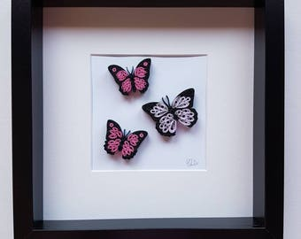 "Art painting quilling ""butterflies"""