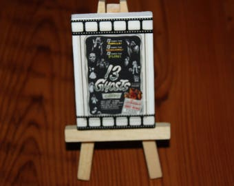 Vintage 13 Ghosts Horror Mini Movie Poster Ad on Canvas Dollhouse Art