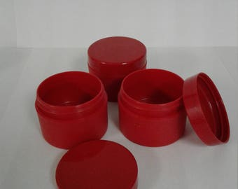 50 ml / 1.69 oz Red Containers with lids