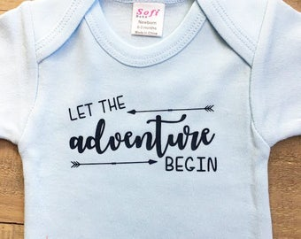 Baby Boy Coming Home Outfit, Coming Home Outfit Boy, Let The Adventure Begin Bodysuit, Let The Adventure Begin, Newborn Boy Coming Home