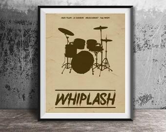 Movie poster print,Whiplash-alternative movie poster printable,Printable files,Film minimal art,Prinatble files,Instant Download,Prints