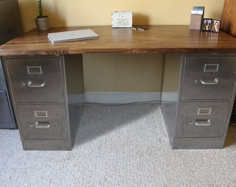 Desk With Filing Cabinet Drawers Roselawnlutheran