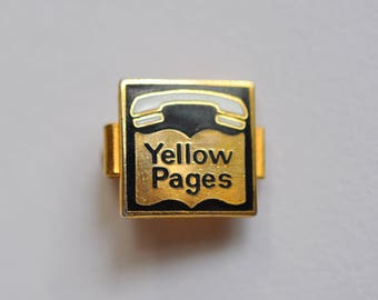 Vintage Yellow Pages Tie Clip