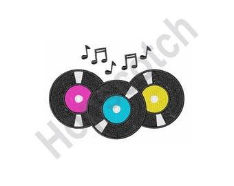 45S Records - Machine Embroidery Design