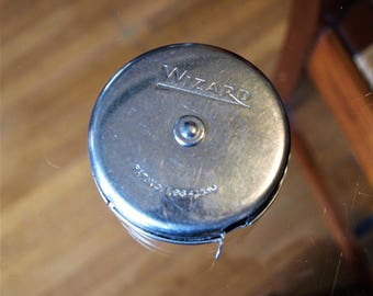 Vintage Lufkin Rule Co. Wizard Junior Metal Pocket Tape Measure – Excellent Condition – 72""