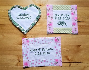 Add Personalized Embroidered Quilt Labels to Any MonkeyDo Quilts