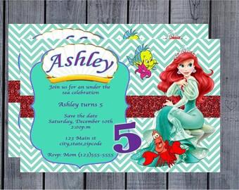 Princess Ariel Invitation