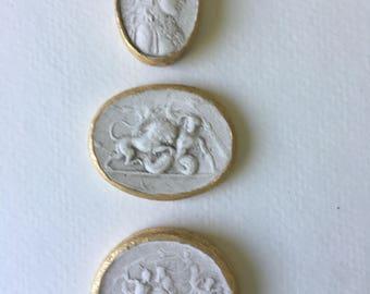 Intaglio Art with Gold Leaf