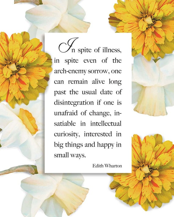 A quiet thought surrounded by Zinnias. Floral digital download print. Typography quote for gardeners and flower lovers. One PDF and one JPG.