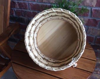 Round Wooden Bottom Basket