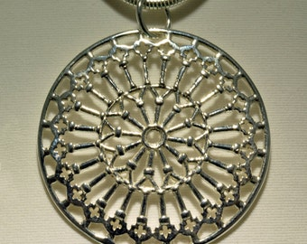 Silver Pendant with the rose of San Giusto Middle