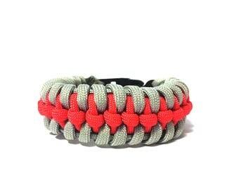 Raid knot Paracord bracelet, Paracord Bracelet, Woven Bracelet, Paracord, Paracord 550