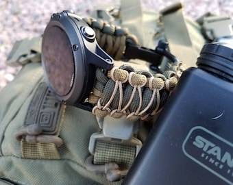 Universal Fit Premium Paracord Watch Band 550 Paracord  Two Paracord Watch Strap Survival Band