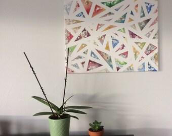 Geometric Painting, Original Watercolor Painting, Home Decor, Handmade Wall Art, Watercolor Art, Living Room Decor, Large Wall Art, Fine Art