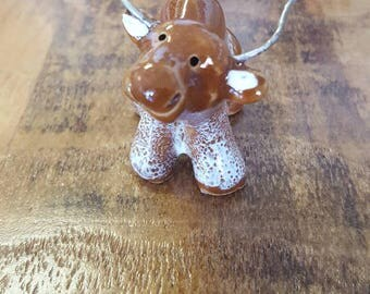 Little Guys Ceramic Longhorn Figurine