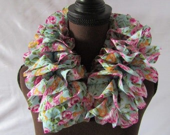 Floral Ruffle Scarf