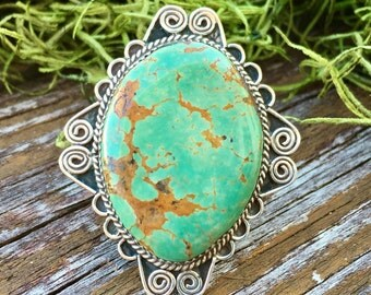 Turquoise Ring | Signed |Native American Jewelry | Indian Jewelry | Southwestern Jewelry | Large Turquoise Rings | Native Jewelry | Boho