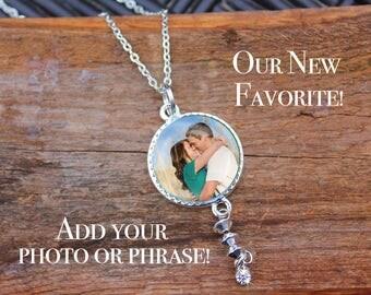 Photo Pendant, Customize Photo Pendant, Photo Necklace, Mother's Day, Personalized Necklace, Handwriting Pendant