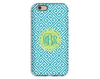 Monogram iPhone 7 case, greek key iPhone 7 Plus cae, greek key iPhone SE case, iphone 6s/6s Plus/6/6 Plus/5s/5 cases, 3D cases