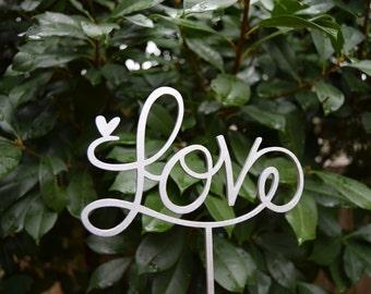 Wedding Topper LOVE Cake Topper Wedding Gift, Valentine Day Cake Topper Love sign