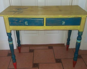 Beautiful handpainted desk with lovely hippo handles