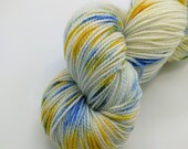Sock Yarn - Winter Lights Colorway -  Merino Wool, Nylon Blend - Hand Dyed - Knit - Crochet - Fingering Weight