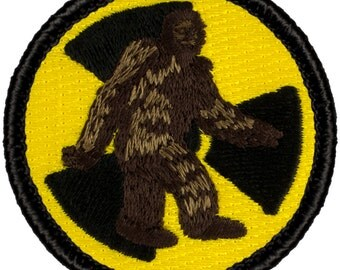 Nuclear Bigfoot Patch (670) 2 Inch Diameter Embroidered Patch