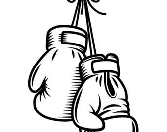 Cancer Ribbon With Boxing Gloves Clip Art