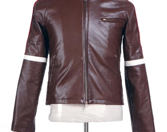 War of the Worlds Brown Pleather Jacket Cosplay Costumes