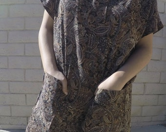 Paisley Brown Dress
