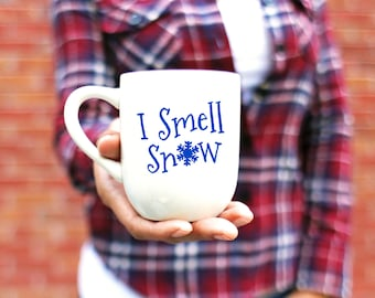 I Smell Snow Mug - Gilmore Girls Inspired Mug - Lorelai Gilmore Quote - Teal Mug - Red Mug - Green Mug - White Mug - 12oz coffee or tea mug